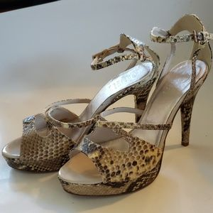 New Bagatt snake print leather sandals size 7 1/2